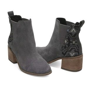 Tom's Forged Iron Metallic Jacquard Esme Gray Boot